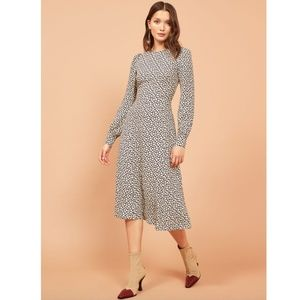 Reformation Josephine Dress Navy Floral Dress 8